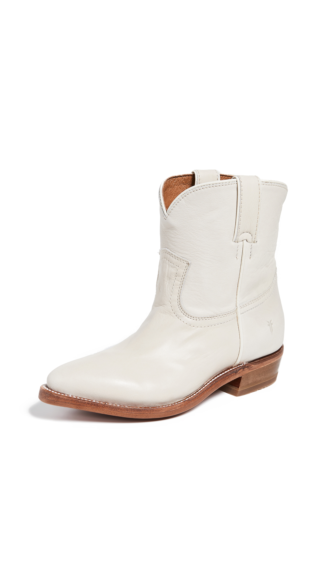 Frye Billy Short Booties - Off White