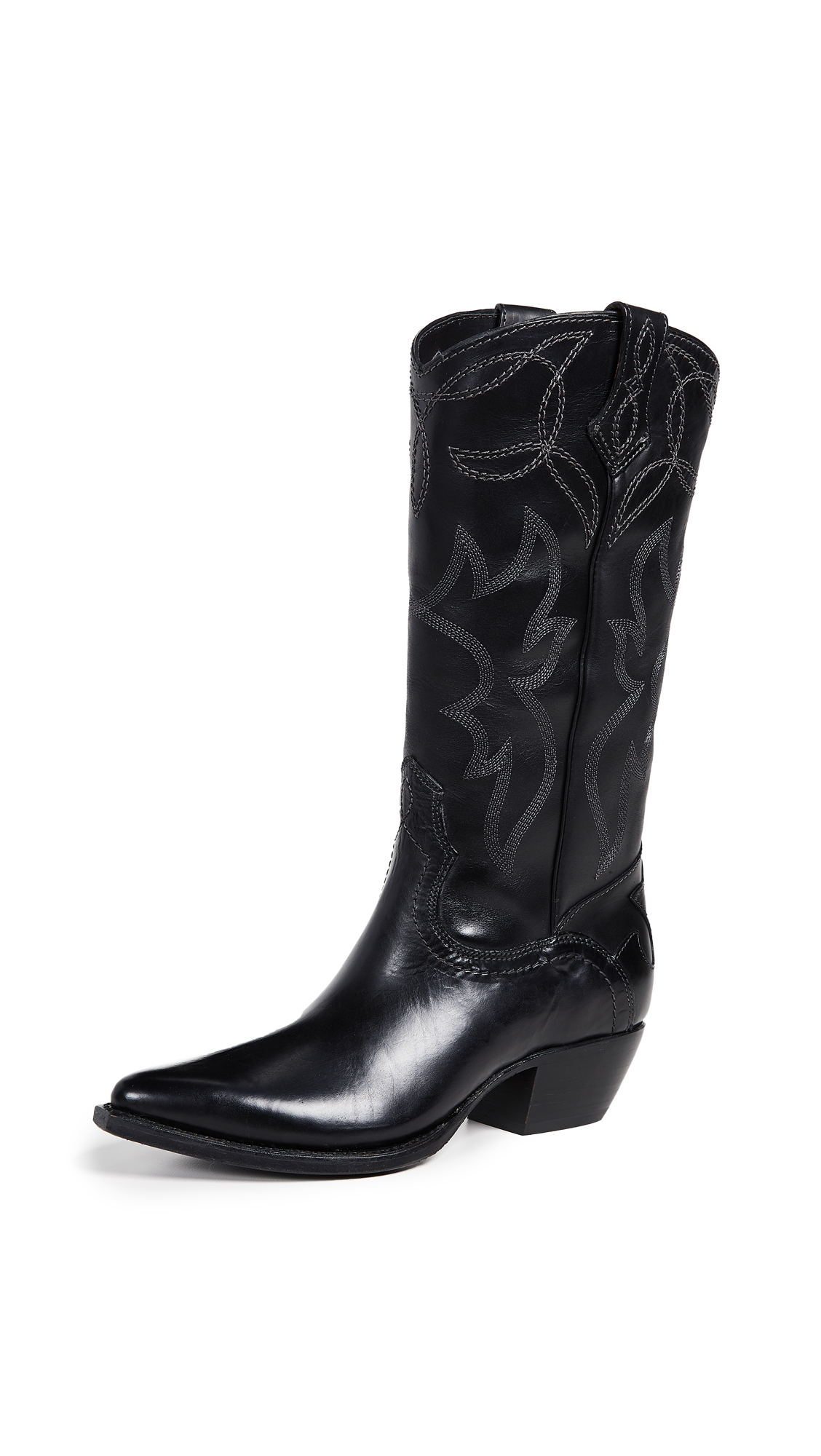 Frye Shane Embroidered Boots - Black