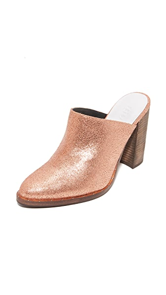 Freda Salvador Luna High Heel Mules - Rose Gold