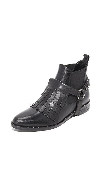 Freda Salvador Fringe Chelsea Ankle Booties - Black
