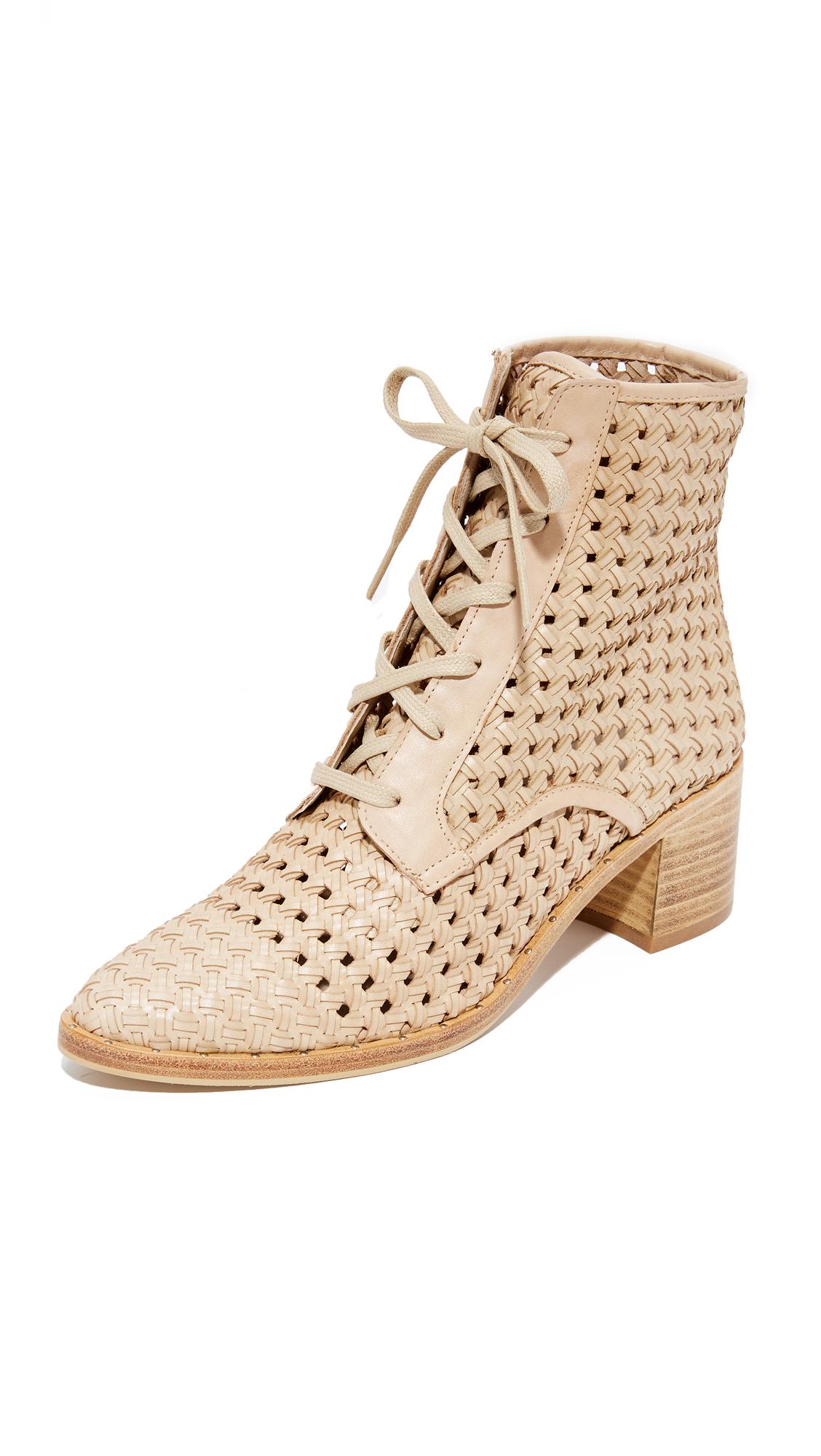 Freda Salvador Ace Woven Boots - Nude