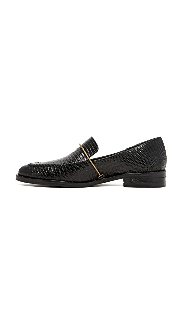 Freda Salvador Light Croco Loafers