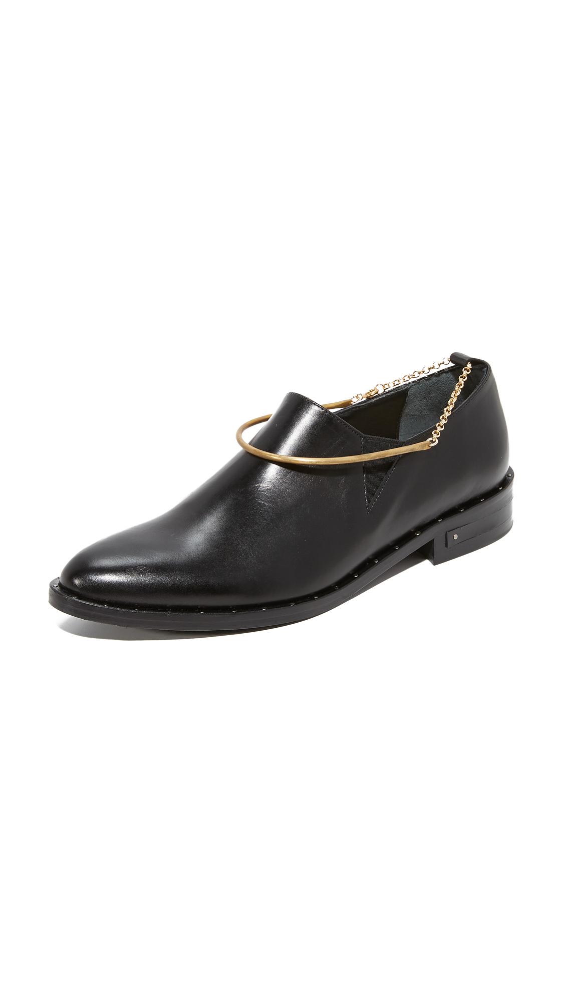 Freda Salvador Sound Loafer Booties with Anklet - Black