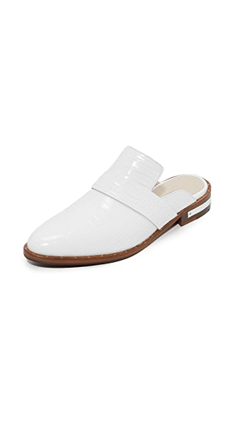 Freda Salvador Keen Mules In White