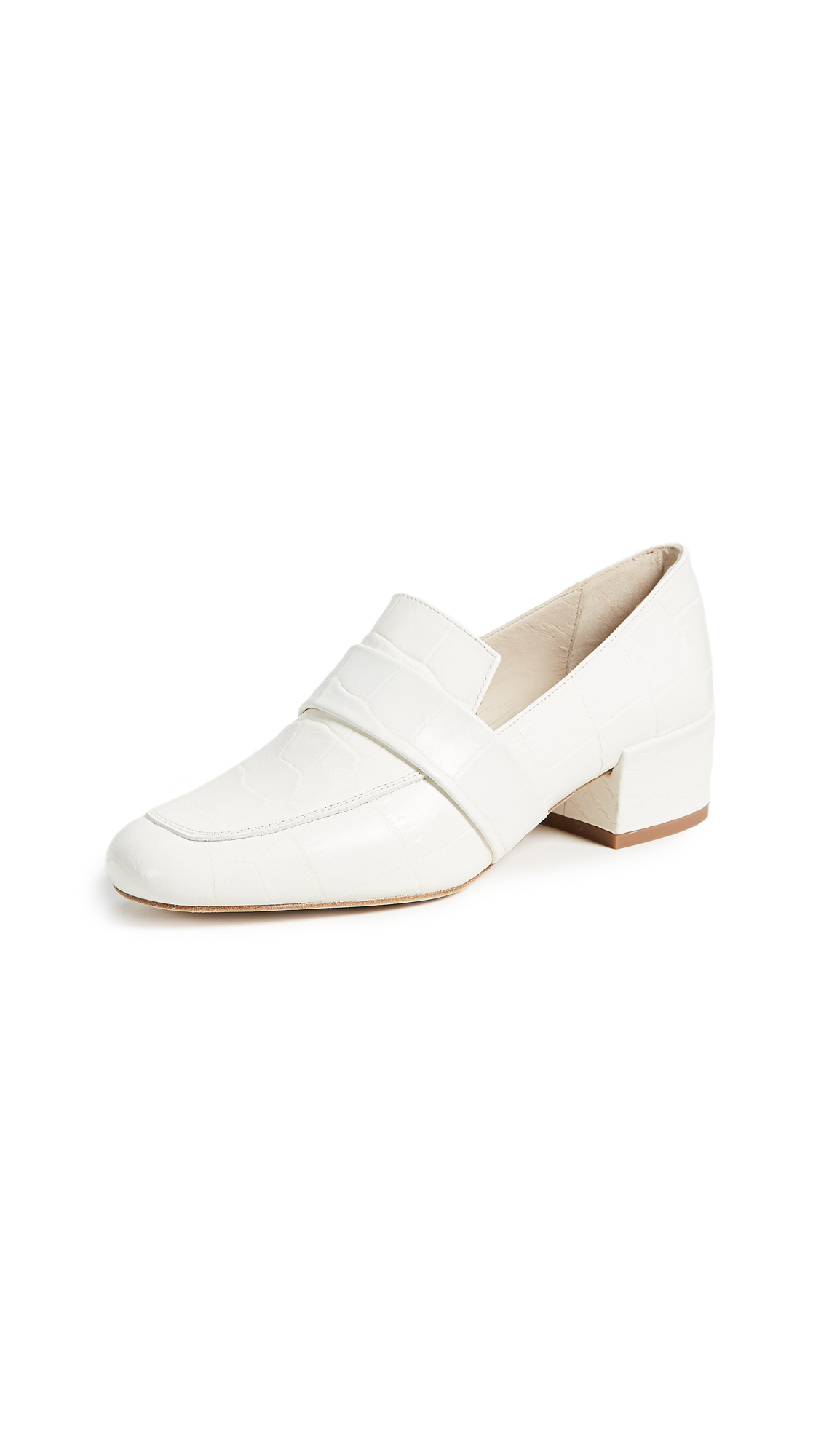Freda Salvador The Rock Block Heel Loafers - White