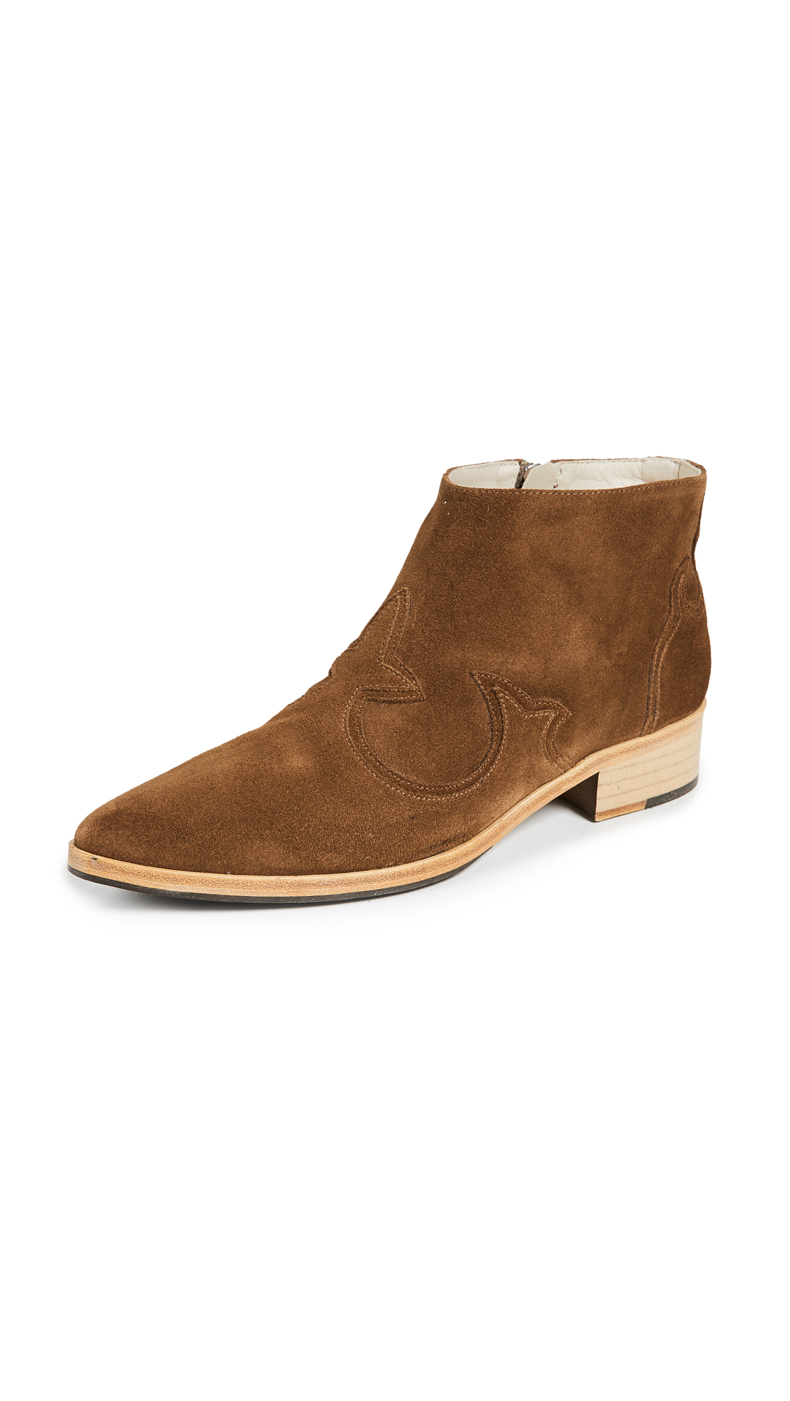 Freda Salvador The Arroyo Western Booties - Brown