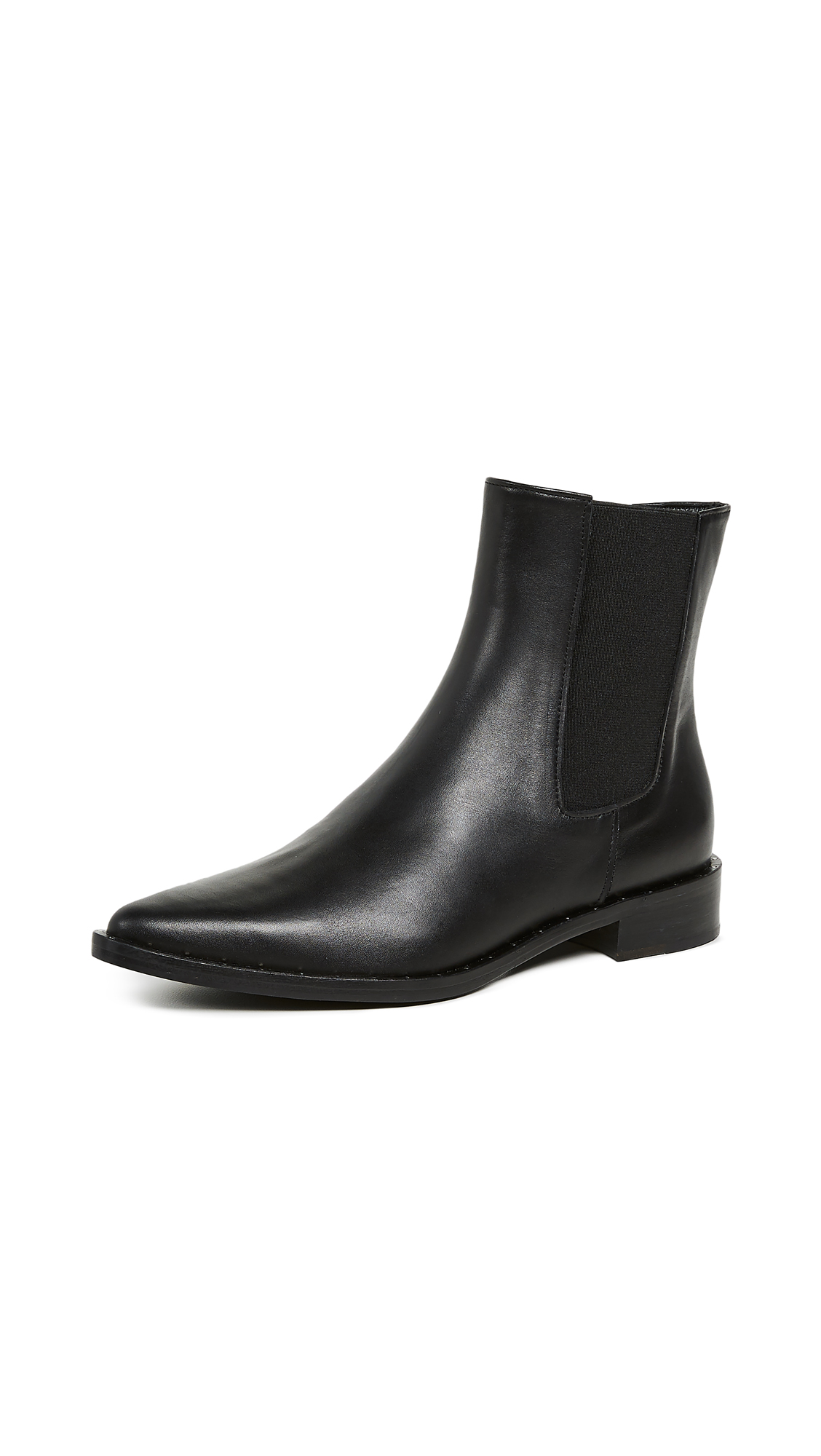 Freda Salvador Joan Pointed Toe Chelsea Boots - Black