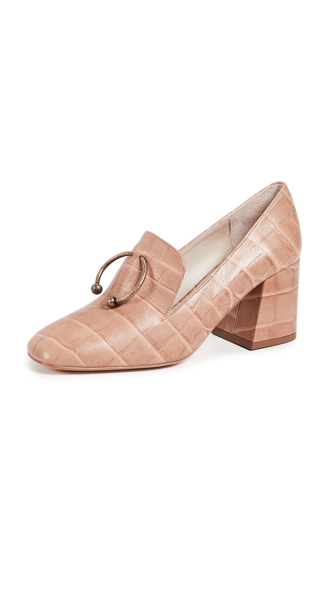 Freda Salvador Lift Loafer Pumps - Cocoa