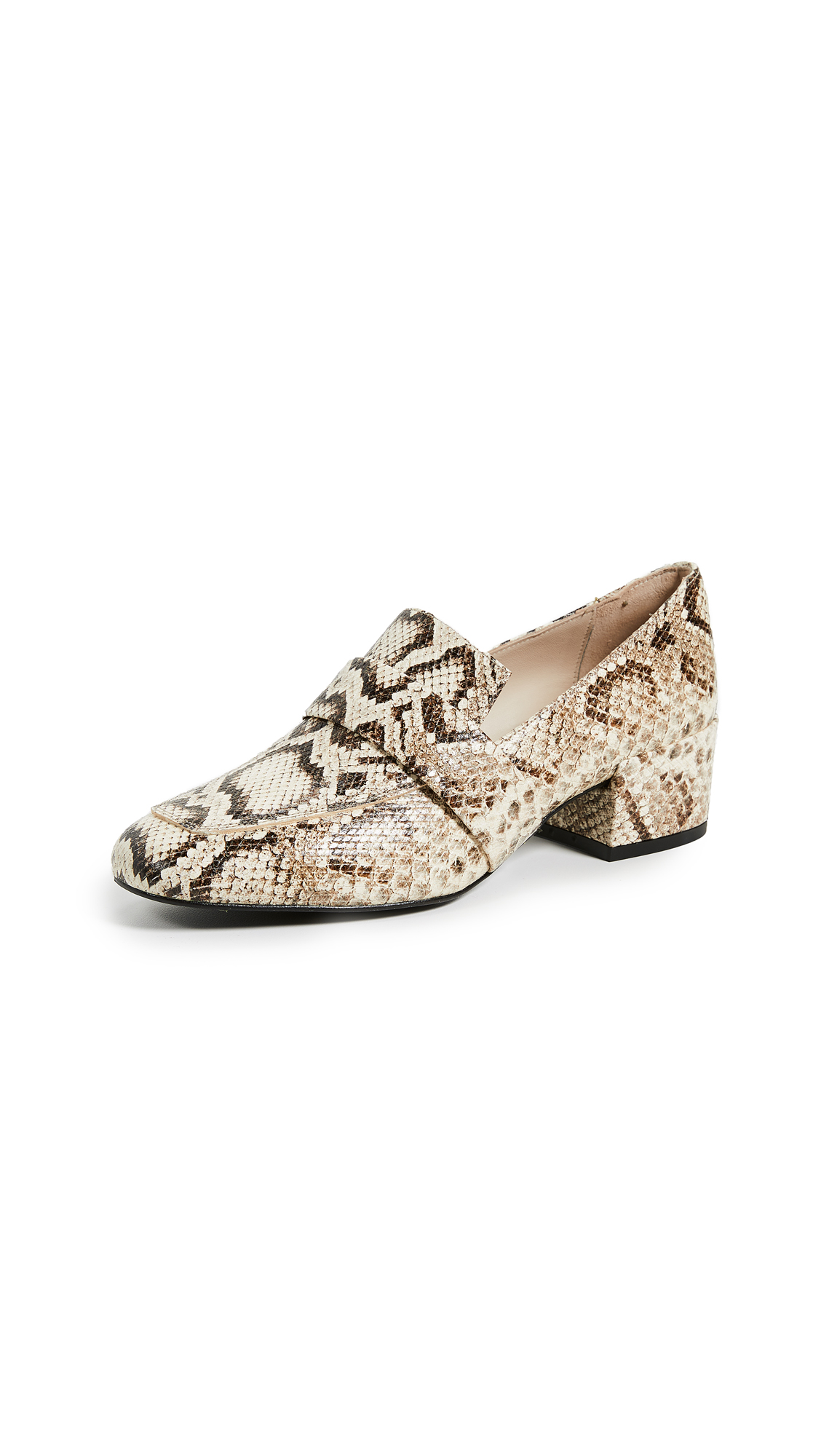 Freda Salvador Rock Loafer Pumps - Vanilla