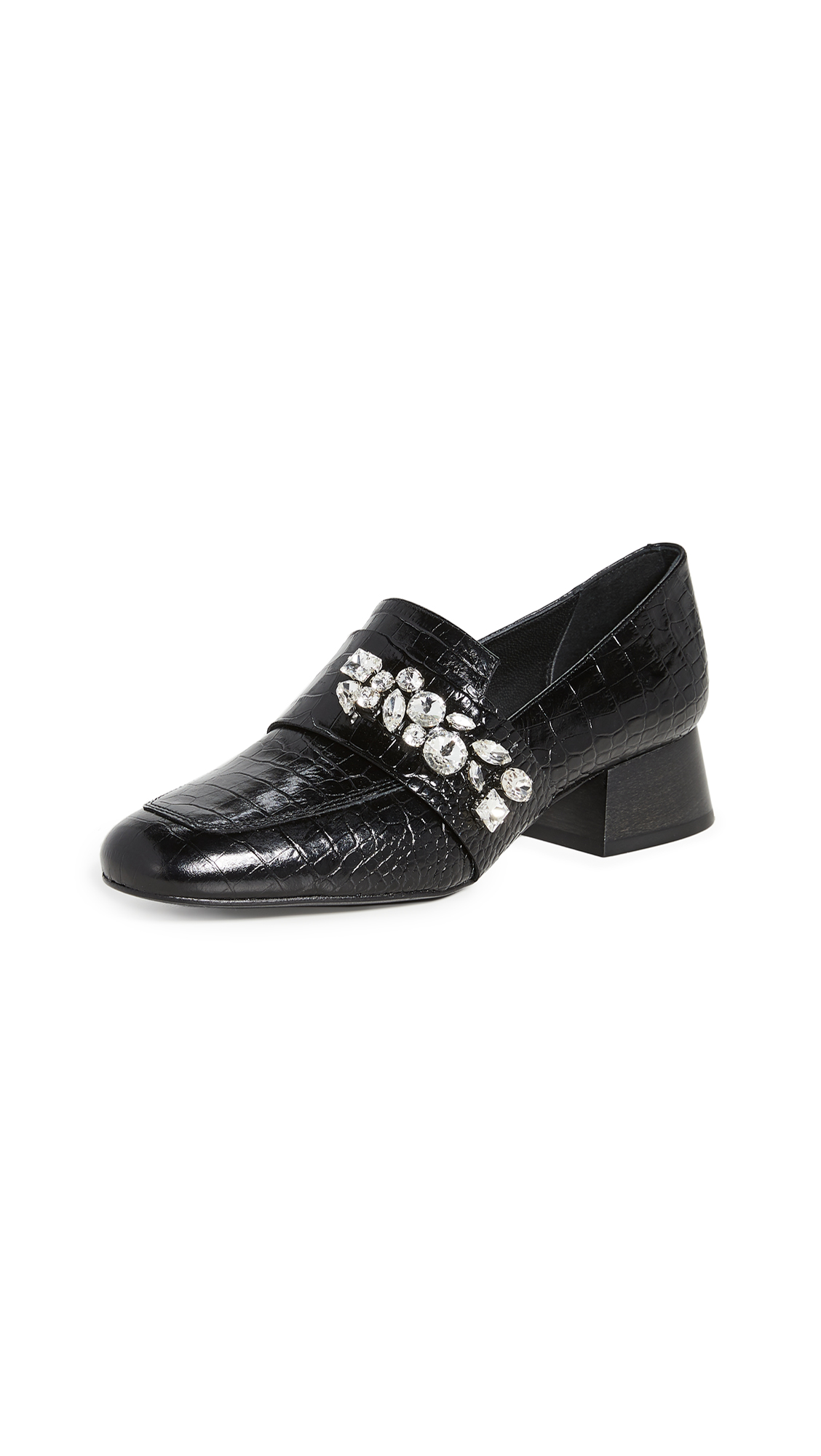Buy Freda Salvador Blossom Jewels Heeled Loafers online, shop Freda Salvador