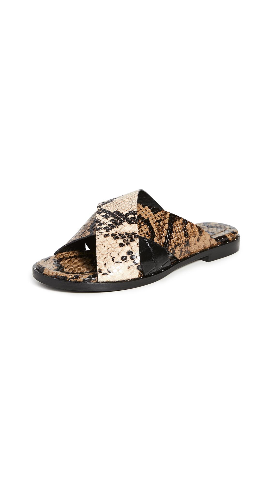 Freda Salvador Dew Cross Strap Sandals - 30% Off Sale