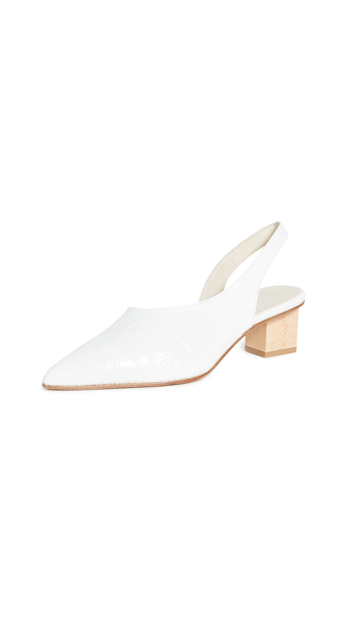 Freda Salvador Marigold Asymmetrical Mid Heel Pumps – 30% Off Sale