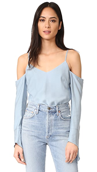 Fred and Sibel V Neck Off Shoulder Top
