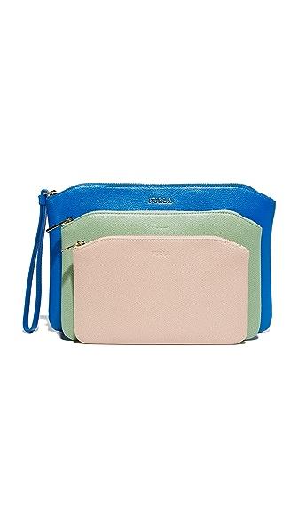 Furla Venere Cosmetic Case Set - Bluette/Menta/Magnolia