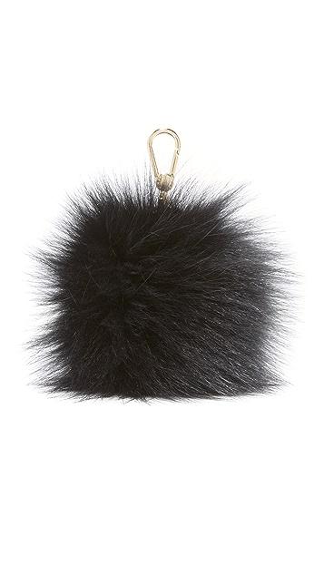 Furla Bubble Pom Pom Bag Charm
