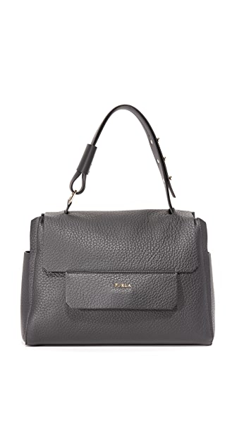 Furla Capriccio Medium Top Handle Bag - Onyx