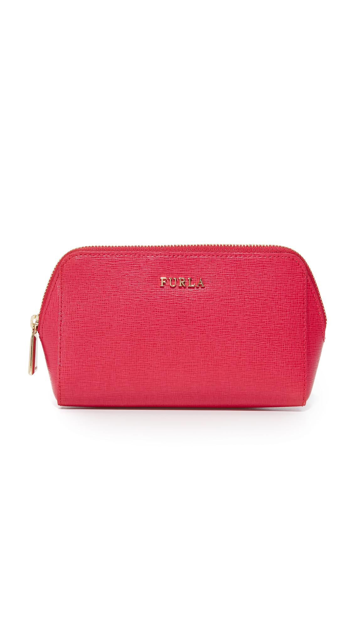 furla female furla electra cosmetic case ruby
