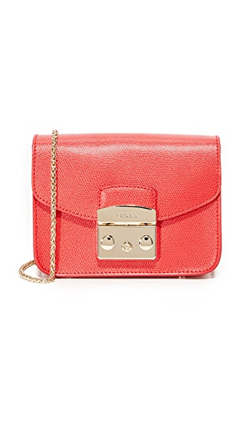 Furla Metropolis Mini Cross Body Bag - Ruby