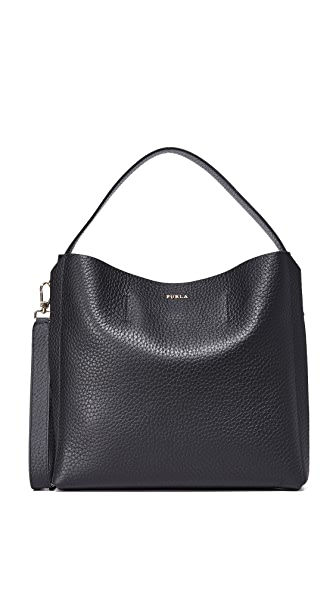 Furla Capriccio Medium Hobo Bag - Onyx