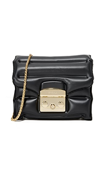 Furla Oxygen Metropolis Cross Body Bag - Onyx