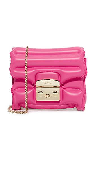 Furla Oxygen Metropolis Cross Body Bag - Pinky