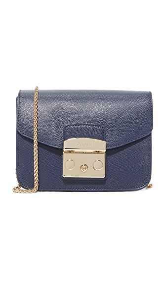 Furla Metropolis Mini Cross Body Bag - Navy