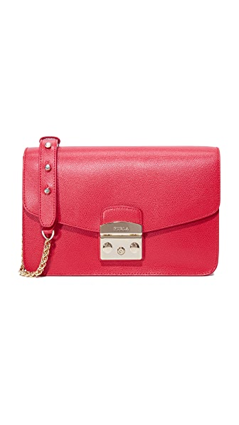 Furla Metropolis Small Shoulder Bag - Ruby