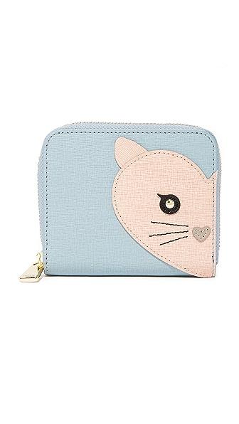 Furla Маленький кошелек на круговой молнии Allegra с изображением кота