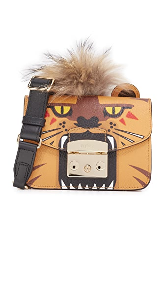 Furla Metropolis Jungle Mini Cross Body Bag - Orange