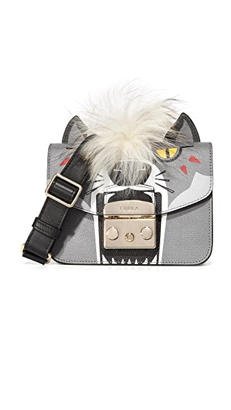 Furla Metropolis Jungle Mini Cross Body Bag - Stucco