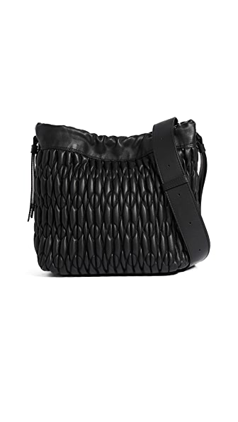 Furla Caos Drawstring Bag In Onyx
