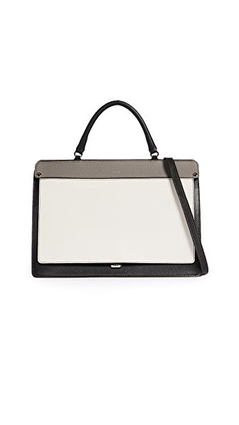 Furla Like Medium Top Handle Bag In Onyx/Petalo/Argilla