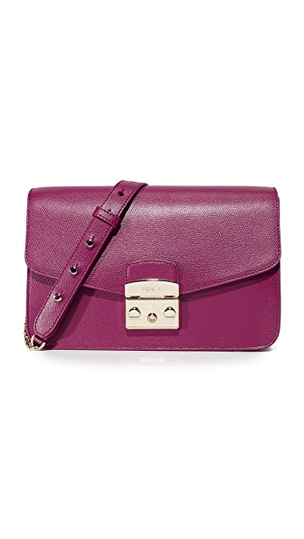 Furla Metropolis Small Shoulder Bag - Amarena