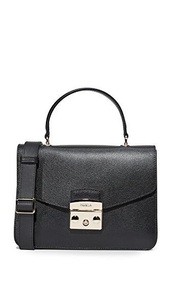 Furla Metropolis Small Top Handle Bag - Onyx