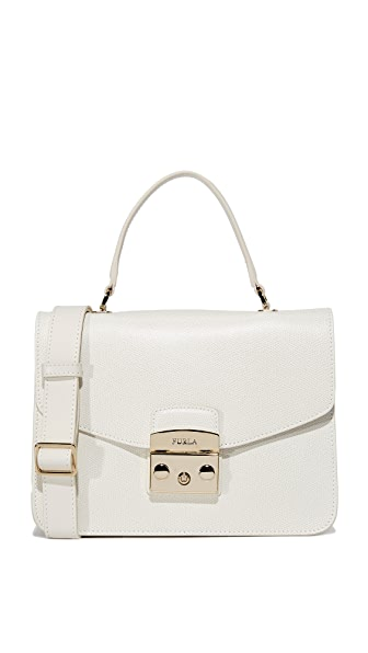 Furla Metropolis Small Top Handle Bag In Petalo