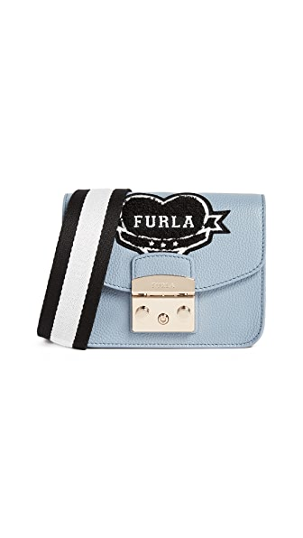 Furla Metropolis Post Mini Cross Body Bag In Tempesta/Onyx/Petalo