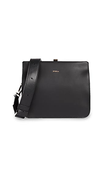 Furla Selfie Mini Cross Body Bag In Onyx
