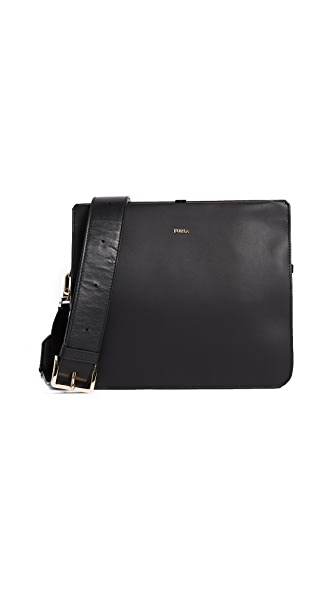 Furla Selfie Small Shoulder Bag In Onyx