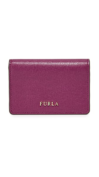 Furla Babylon Business Card Case - Amarena