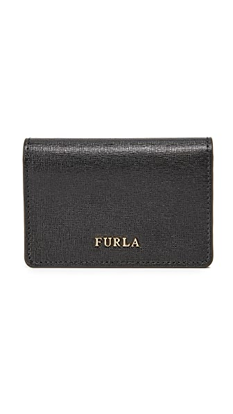Furla Babylon Business Card Case - Onyx