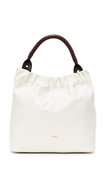 Furla Matilde Hobo Bag - White/Chocolate/Onyx