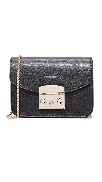 Furla Metropolis Mini Cross Body Bag - Onyx
