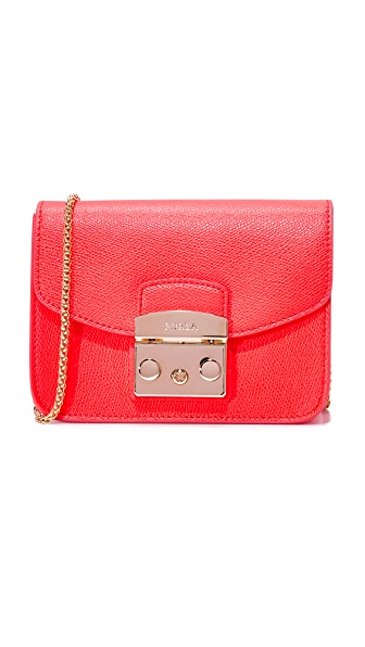 Furla Metropolis Mini Cross Body Bag - Pink Fluro