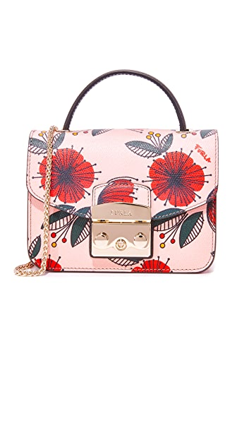 Furla Metropolis Top Handle Mini Cross Body Bag - Toni Moonstone