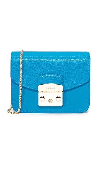 Furla Metropolis Mini Cross Body Bag - Cerulean
