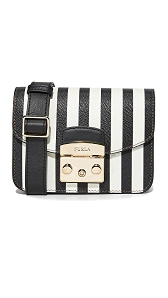 Furla Metropolis Mini Cross Body Bag - Onyx/Petalo