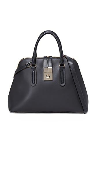 Furla Peggy Medium Dome Satchel - Onyx