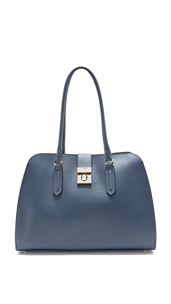 Furla Peggy Medium Satchel - Avio Scuro