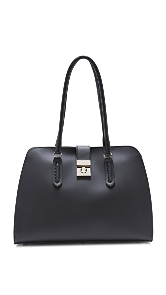 Furla Peggy Medium Satchel - Onyx