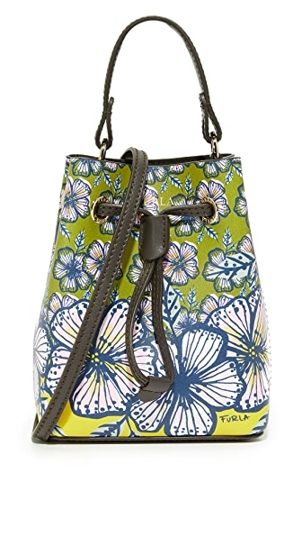 Furla Printed Stacy Mini Drawstring Bag - Multi